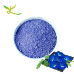 Suplemento alimentar Ternatea Borboleta Azul Extracto de flor de ervilha em pó