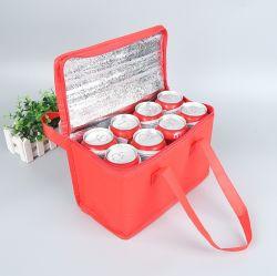 형식 점심 운반물 쇼핑 포도주 6은 지퍼를 가진 격리한 비 길쌈한 더 차가운 부대 할 수 있다