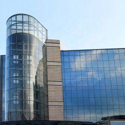 アルミ合金のプロフィールの構造低いE反射半透明な薄板にされたガラスのカーテン・ウォール