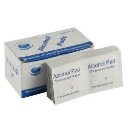 Alcohol desechable Prep Pad para el uso de desinfección