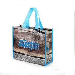 Logotipo personalizado de compras al por mayor impresas no tejido cosido Tote Eco friendly manejar Bolsa de compras