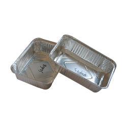 Grande di alluminio di alimento dei contenitori rotondi a gettare dell'imballaggio che cucina POT con il coperchio