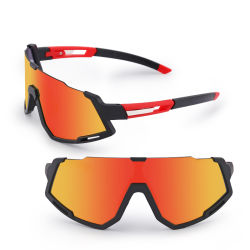 5 Lens Mountain Bike Bicycle Cycling Eyewear Custom 2012 New 디자인 PC 렌즈 스포츠 아이웨어