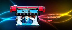 سعر رخيص 1.8 م عالي الجودة ودقة عالية في الهواء الطلق Dx7 الإيكولوجية طابعة مذيب قماش، فرخ PVC، فينيل