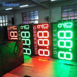 شاشة السعر الرقمي LED لمحطة البنزين Grandview