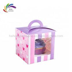 L'impression personnalisée de qualité alimentaire Boîte de papier de la fenêtre en plastique pour l'emballage de gâteau