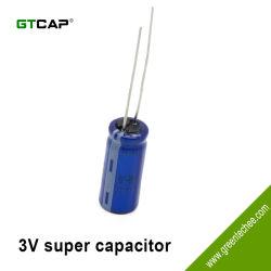 De Alto Voltaje GTCAP 3,0V 100F conexiones radiales Farad Capacitor de oro