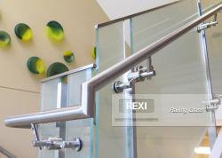 Hoge kwaliteit modern terras reling design glas balustrade frameloze reling balkon met glas