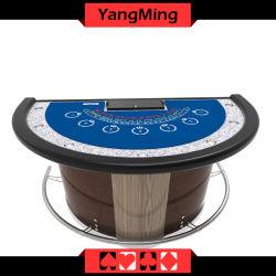 Новая конструкция половины Custom Блэкджек Стол ломберный производство казино таблица со стандартным Poker Chip Ym-Bj02/03