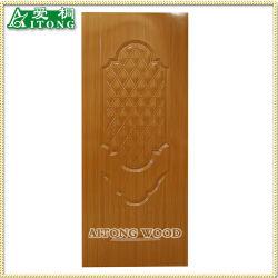 La melamina, chapa natural/HDF molde utilizado para la piel de la puerta de la puerta de inicio