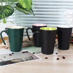 Haute qualité couleur mat vitrage extérieur en forme de V couleur grès mug