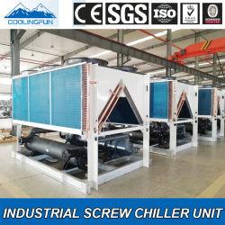 Tipo industriale refrigeratore del rotolo e della vite di acqua raffreddato aria