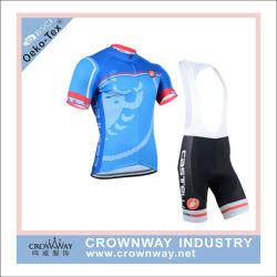 人の卸し売り注文のためのおかしいサイクリングの衣類の上