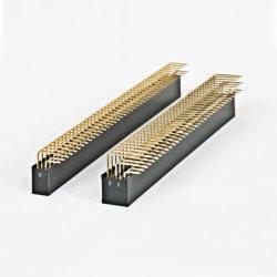 Embase à broches Straigt simple/double rangée/connecteur de type DIP à angle droit