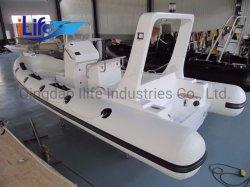 ILIFE Luxury Large New Model Rib 580c الجامد الهيكل الزجاجي زورق مطاطي مستخدَمة صيد السمك للبيع