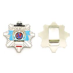 Botão de estanho Prata esmalte personalizado Badge Supplysafety Pino recordações Tin Wallet