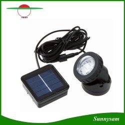 屋外の庭の景色のヤードの芝生の経路の池の機密保護の壁ランプのスポットライトの防水IP68 6 LEDの太陽動力を与えられた軽い自動車