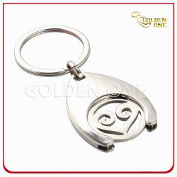 Zoll gestempelschnittene Metalllaufkatze-Münze Keychain für Einkaufswagen