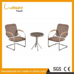 Intérieur et extérieur jardin Meubles de salle de repos de châssis en aluminium Table et chaise en rotin
