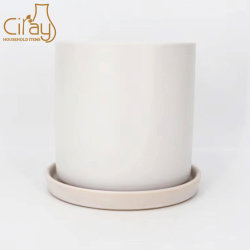 De aangepaste Pot van de Installatie van de Bloem van de Cilinder Binnen & Openlucht Ceramische