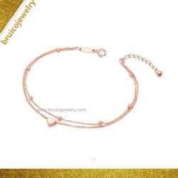 女性のためのカスタム工場直売9K 14K 18Kの金の宝石類の中心の銀の宝石類のビードのブレスレット