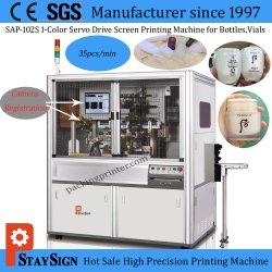 Tipo automatico stampatrice di Sap-102s servo dello schermo per le bottiglie di vetro