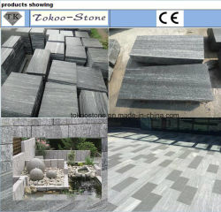 壁の石/Tiles/Floor/Stairs/Paving/Slabsのための炎にあてられたG377 G302 G341 G375 G383 G399 G343 G354 G371の灰色の暗い灰色の黒く赤い灰色の黄色い花こう岩