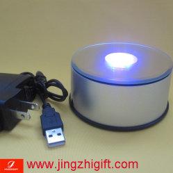 Base giratoria de LED con USB para portátil Unidad (JZM-621)
