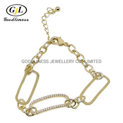 Rhodium plateerde 925 Echte Zilveren Regelbare Armbanden van de Keten van de Link van de Fabriek van Juwelen Panyu (BT6914)