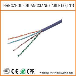 كبل LAN كبل UTP Cat5e 24AWG من نوع PVC نحاسي كبل توصيل سلك Cu/BC/CCA للشبكة بكبل توصيل الأسلاك النحاسية