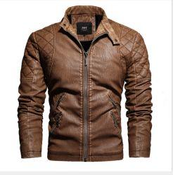 PU 가죽 재킷 플러스 벨벳 남성용 재킷 남성용′ S 가죽 의류 패션 유러피안 및 아메리칸 스타일의 대형 사이즈