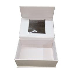 Boîte à chaussures d'affichage de carton de papier avec l'aimant Fermer