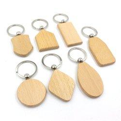 Großhandel Selbstverteidigung Produkt Split Ring Schuhe Schlüsselhalter Custom Schlüsselanhänger aus Holz mit POM-Silikonpoms
