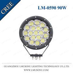 مصباح LED للسيارة CREE مقاس 7 بوصات، مصباح العمل الإضافي للسيارة 90 واط