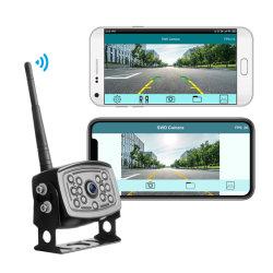 Transmissão de sinal digital à prova de metais pesados e de visão nocturna com câmara de backup de aplicativos WiFi