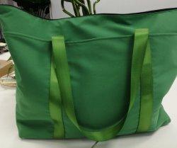 حقيبة تسوق خضراء باردة مع سعة كبيرة
