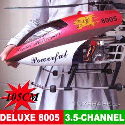 Helicóptero de AnBig RC, 3.5CH o brinquedo o mais grande do helicóptero do giroscópio da liga 105cm, atuador elétrico do curso de Helicoptergle do brinquedo do helicóptero RC de R/C