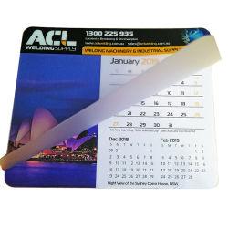 La impresión personalizada transparente de PVC portátil único cálido Calendario Mouse Pad