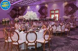 가구 스테인리스 의자를 식사하는 현대 디자인 금 결혼식 사건
