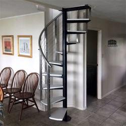 Madeira moderno personalizados escada em espiral escadaria em espiral de Aço Inoxidável