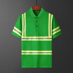 Indumenti di lavoro a maglia del nastro di Short del manicotto di polo del Workwear speciale riflettente della camicia