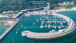 De Brug van de Toegang van het aluminium voor de Commerciële Jachthaven van het Drijvende Dok