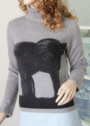 Ladies' High Neck Pullover with Printing Cprp1106L