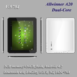 """9.7"""" TABLET Android 4.2 1g 16 G, Dual Core, WiFi +3 G + Bluetooth"""