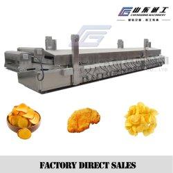 감자 칩을 만드는 자동적인 전기 난방 감자 튀김 생산 라인/기계장치