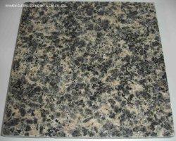 De in het groot Zwarte/Witte/Bruine Besnoeiing aan Grootte betegelt Gezandstraald/Gepoetste op/Gele Graniet van de Huid van de Luipaard voor het Behandelen van de Vloer van de Bekleding van de Muur het Gevlamde
