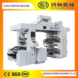 Panno non tessuto a gettare ad alta velocità di controllo del PLC di quattro colori/stampatrice di Flexo/del film di materia plastica sacco di carta