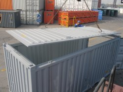 Специальный контейнер с открытым верхом на лизинг 20ot 40ot транспортные контейнеры