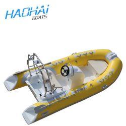 Nieuwste Model Ingebouwde 25L het Roeien van de Rib van de Tank van de Brandstof Opblaasbare 3.9m Vissersboot voor Verkoop