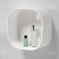 백색 단단한 지상 돌 목욕탕 벽 저장 선반 전시 선반